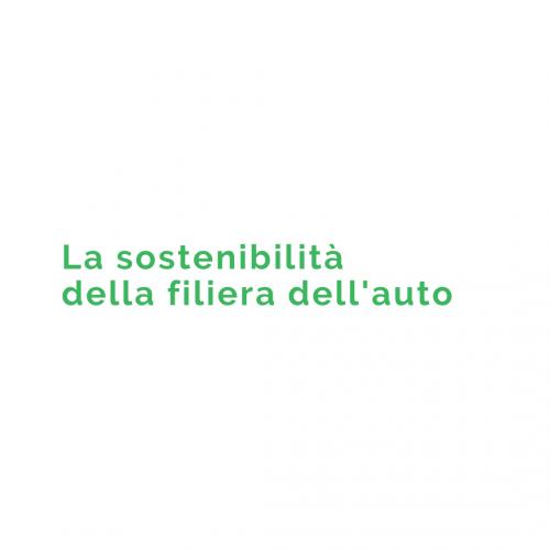 la sostenibilita della filiera dell'auto