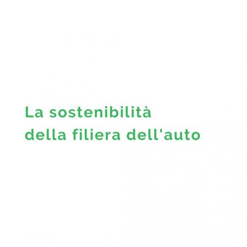 Sostenibilità della filiera dell'auto