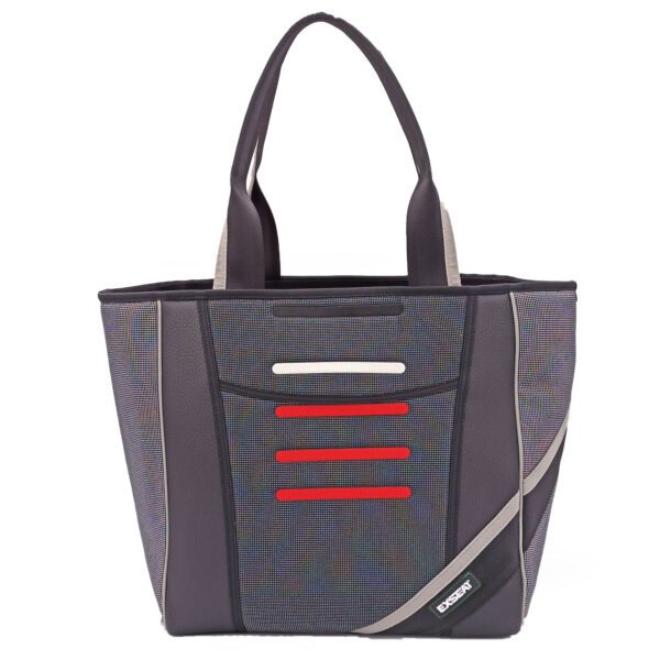 shopping bag rosso bianco nero
